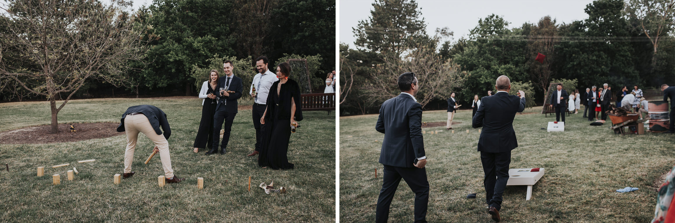 Lawn games at ceremony location